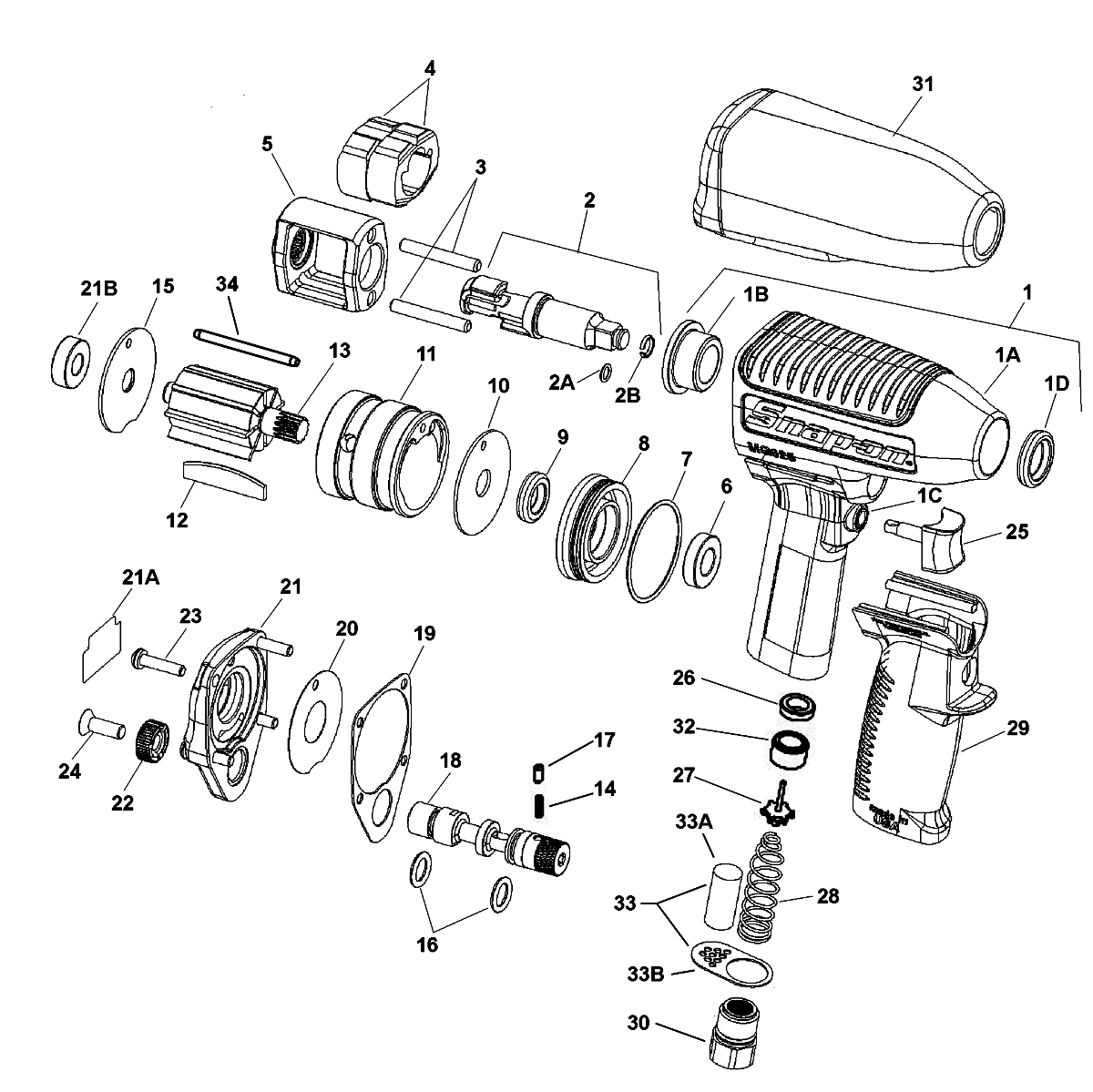 air impact wrench parts diagram  air  get free image about