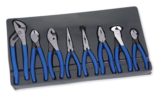 Set Pliers And Cutters Dipped Grip 8 Pc Blue Point 174