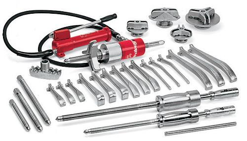 Snap On Gear Puller Sets : Set puller interchangeable heavy duty manual hydraulic