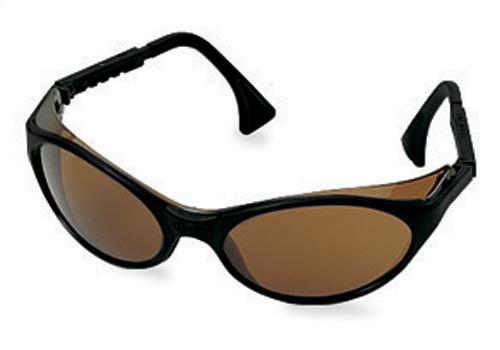 Frame Changers Glasses : Glasses, Safety, Brown Lens/Black Frame