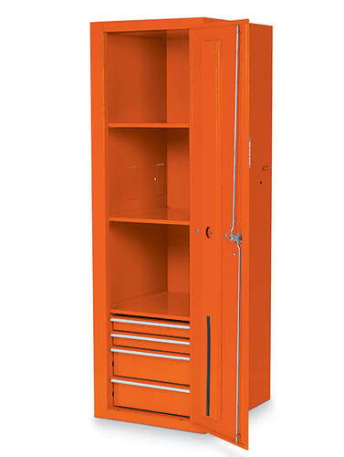Locker 4 Drawers 3 Shelves Electric Orange