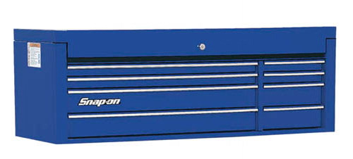 top chest  double bank  8 drawers  53 u0026quot  wide  royal blue