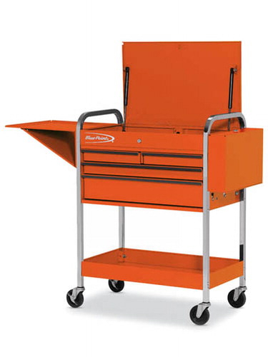 Roll Cart 4 Drawers With Lid Rack And Shelf Electric