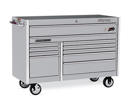 Roll Cab, Double Bank, 11 Drawers, Arctic Silver