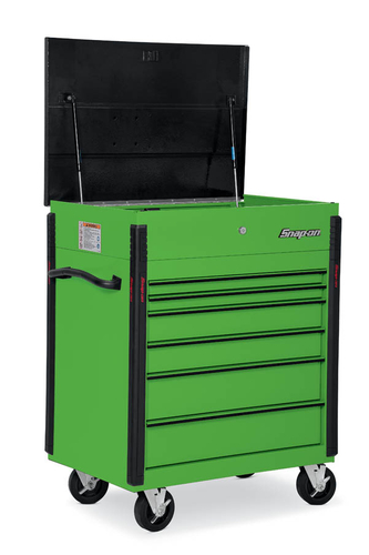 Roll Cart Heavy Duty Bed Liner Lid 6 Drawers Extreme Green