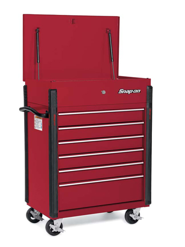 Roll Cart Compact 6 Drawers Flat Black
