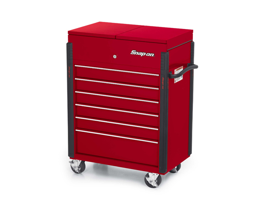 32 Quot 6 Drawer Compact Split Lid Cart Candy Apple Red