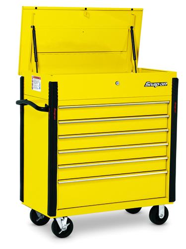 40 Quot Six Drawer Roll Cart Ultra Yellow