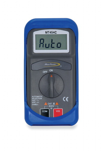 multimeter automatic digital blue point rh store snapon com Blue Point Battery Charger Blue Point Hand Tools