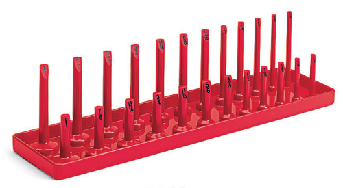 Socket Holder With Posts 3 8 Quot Drive Red 1 4 1 Quot Size Range